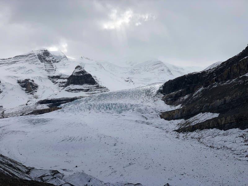 Berg Robson-Gletscher stockbilder