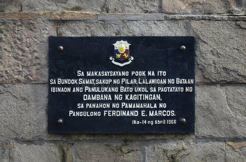 Berg Samat National Shrine Bataan Philippinen lizenzfreie stockfotografie
