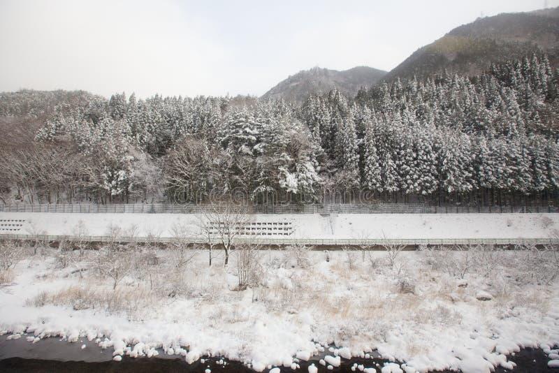 Berg scenary aan Takayama royalty-vrije stock afbeeldingen