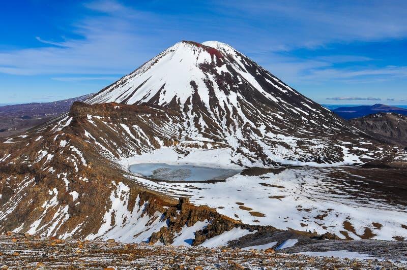 Berg-Schicksal und der Südkrater im Nationalpark Tongariro, lizenzfreie stockfotografie