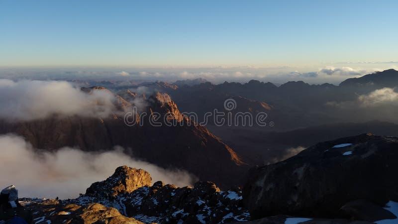 Berg Sinai, Dämmerung stockbild