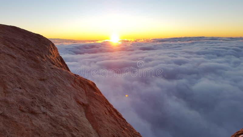 Berg Sinai, Dämmerung lizenzfreie stockfotografie