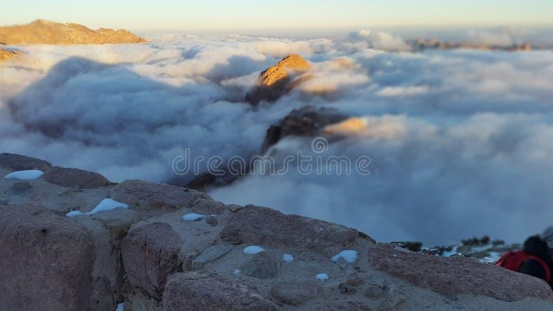 Berg Sinai, Dämmerung lizenzfreie stockbilder