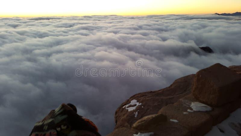 Berg Sinai, Dämmerung stockfotos