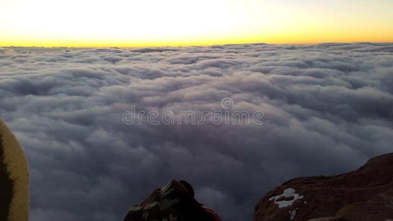 Berg Sinai, Dämmerung lizenzfreie stockfotos