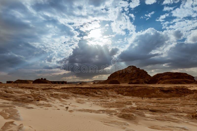 Berg in Sinai woestijn Egypte royalty-vrije stock foto's