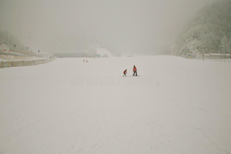 Berg Ski Resort Luoyangs Funiu stockbilder