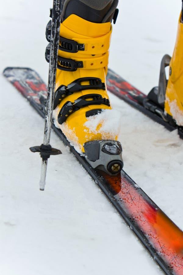 Berg-Skifahren Matte stockfoto