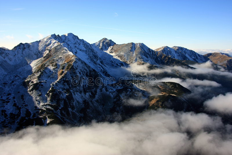 berg slovakia arkivbilder