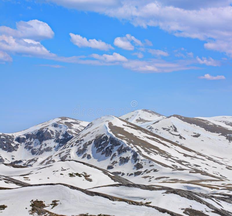 berg snow under royaltyfri bild