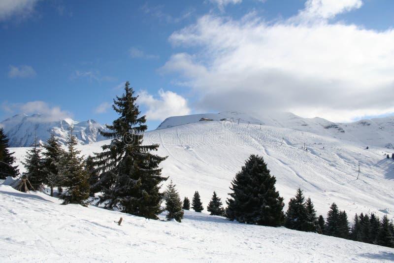 berg snow vintern arkivfoto