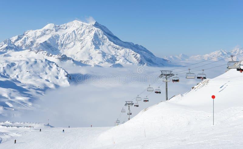 berg snow vintern royaltyfria bilder