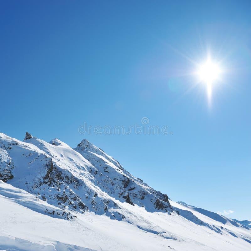 berg snow vintern royaltyfri bild