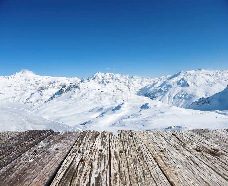 berg snow vintern arkivbilder