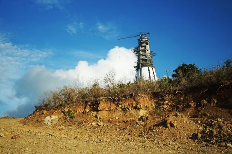 Berg som snidas för att göra körbanan för Monte Maria, arkivbilder