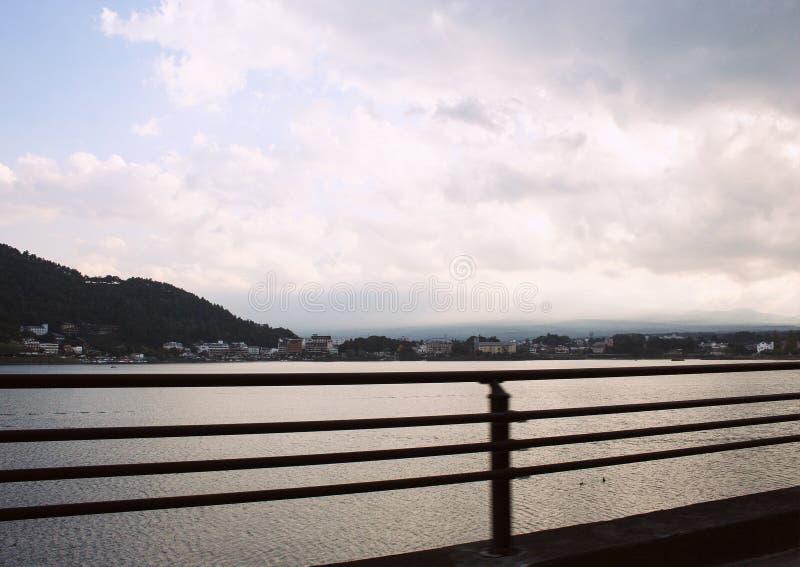 Berg som täckas med skognaturlandskap i Japan royaltyfria foton