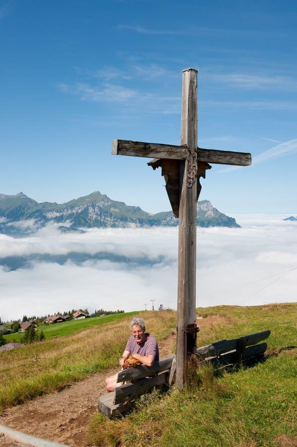 berg switzerland royaltyfria foton