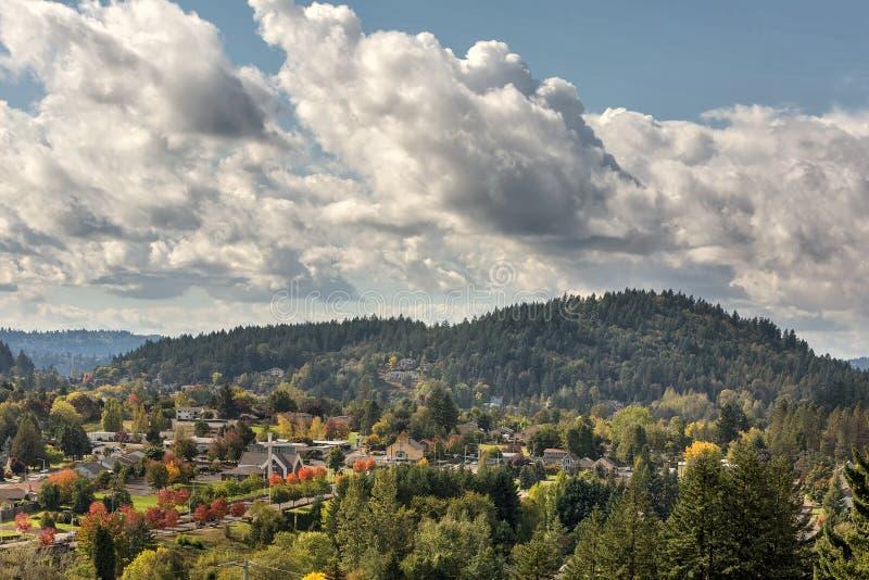 Berg Talbert im glücklichen Tal Oregon lizenzfreie stockbilder
