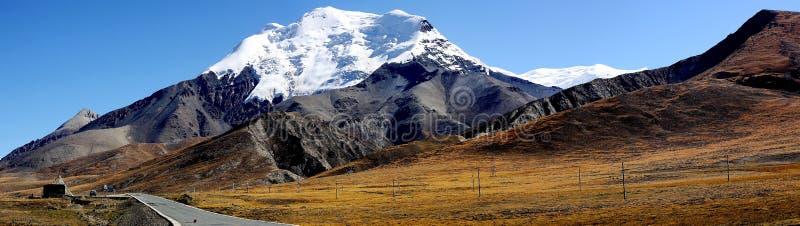 Berg in Tibet stock foto's