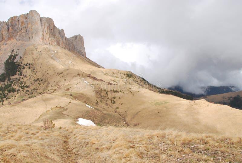 Berg Tkhach in Adigeya stock afbeelding