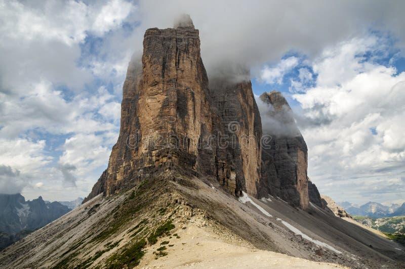 Berg Tre Cime royaltyfria foton