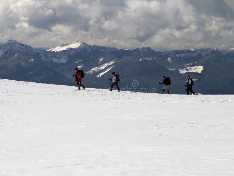 Berg Trekkers stockbilder