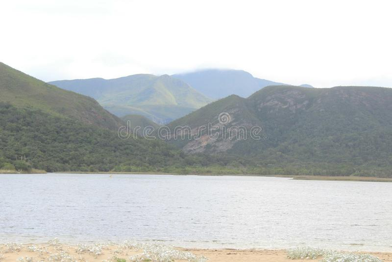 Berg und See stockfoto