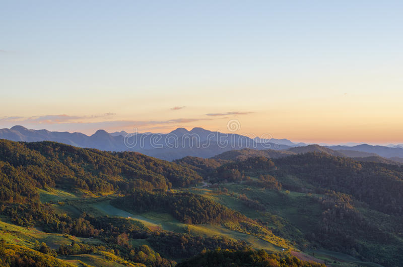 Berg und Wald lizenzfreies stockfoto