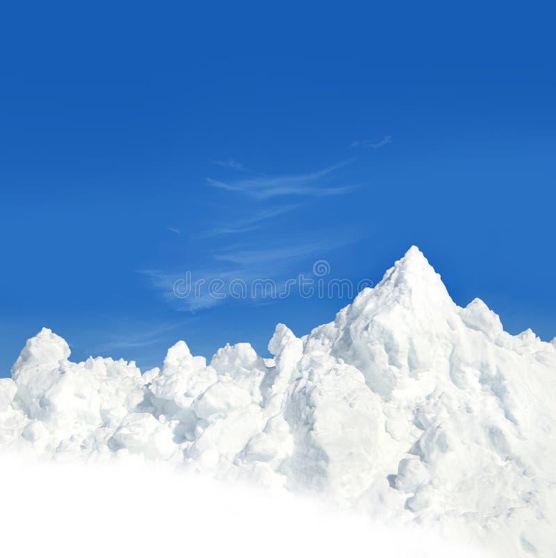 Berg van sneeuw royalty-vrije stock fotografie