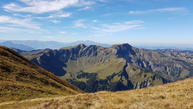 Berg vanaf de bovenkant stock afbeelding