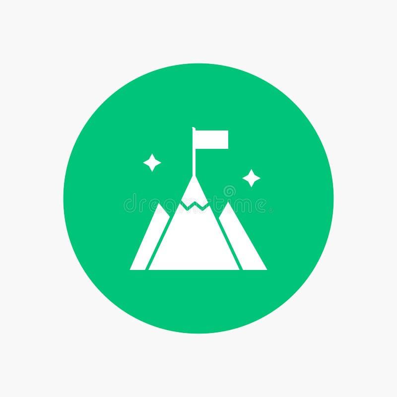 Berg, Vlag, Gebruiker, Interface vector illustratie