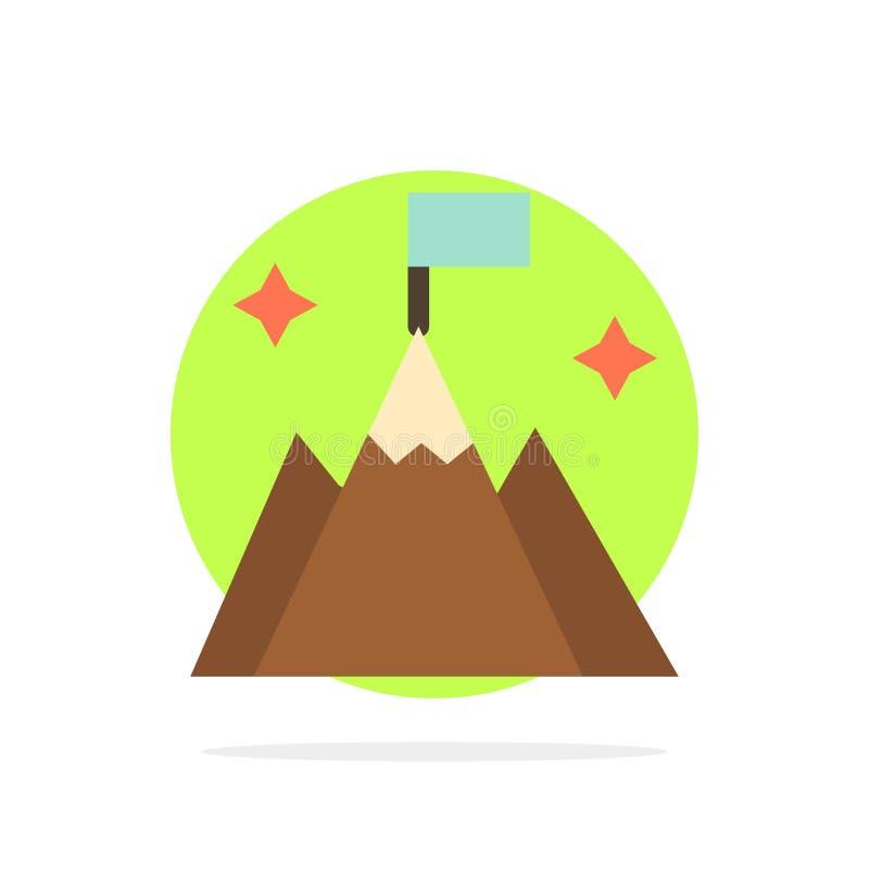 Berg, Vlag, Gebruiker, van de Achtergrond interface Abstract Cirkel Vlak kleurenpictogram stock illustratie