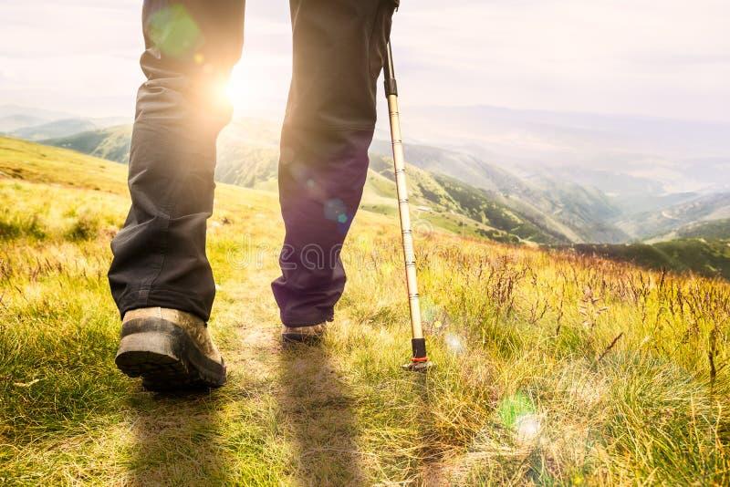 Berg wandeling. royalty-vrije stock afbeelding