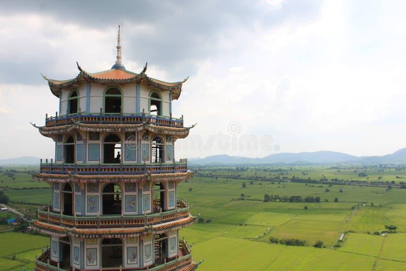 Berg Wat-Tum sua schöner Aussicht bei Kanchanaburi, Thailand lizenzfreie stockfotos