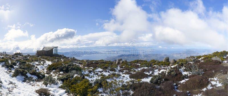 Berg Wellington Tasmania Panorama lizenzfreies stockfoto