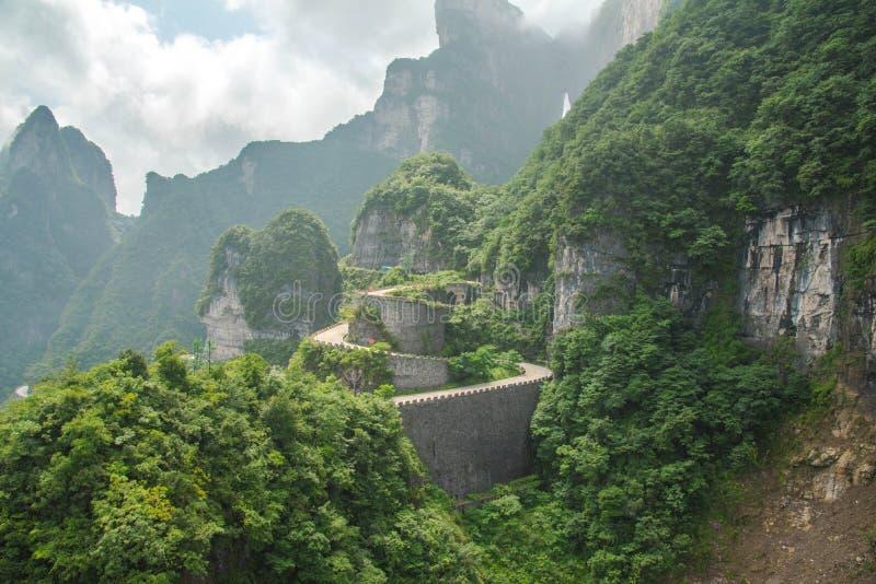 Berg in Zhangjiajie stock afbeeldingen