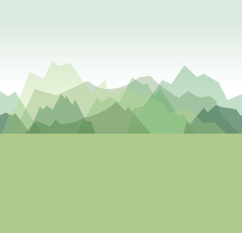 Bergachtergrond stock illustratie