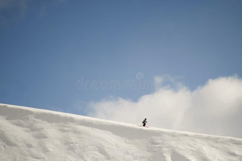 Bergaf Ski?end royalty-vrije stock afbeelding
