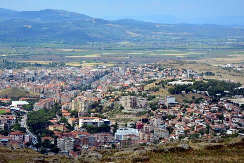 Bergama, Izmir miasta widok, Turcja obrazy royalty free