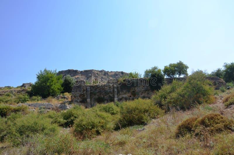 Bergama królestwo należny Silyon antyczny miasto, lokalizować w Antalya obraz stock