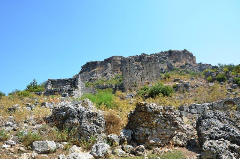 Bergama królestwo należny Silyon antyczny miasto, lokalizować w Antalya zdjęcia royalty free