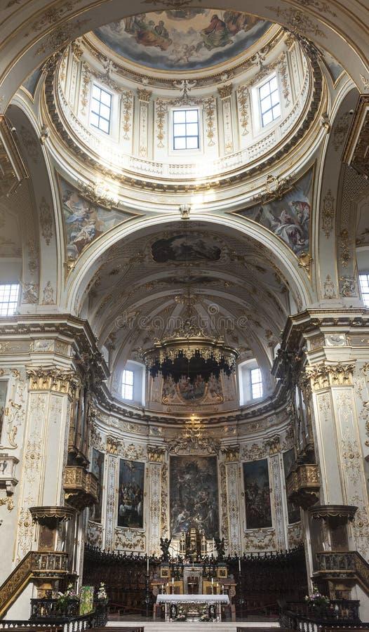 Bergame, intérieur de cathédrale photos libres de droits