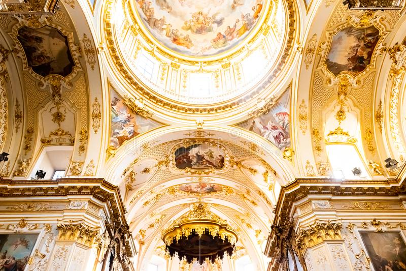 Bergame, Italie - 25 janvier 2019 - à l'intérieur d'intérieur de cathédrale dans Citta Alta, Di Bergame, une cathédrale de Catted image libre de droits
