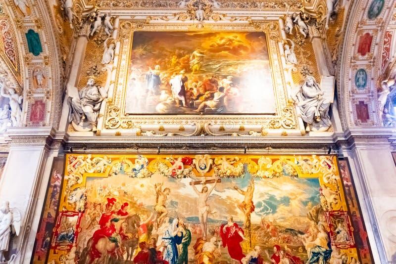 Bergame, Lombardie, Italie - 25 janvier 2019 : Intérieur des Di Santa Maria Maggiore Saint Mary Major de basilique La cathédrale  photos stock