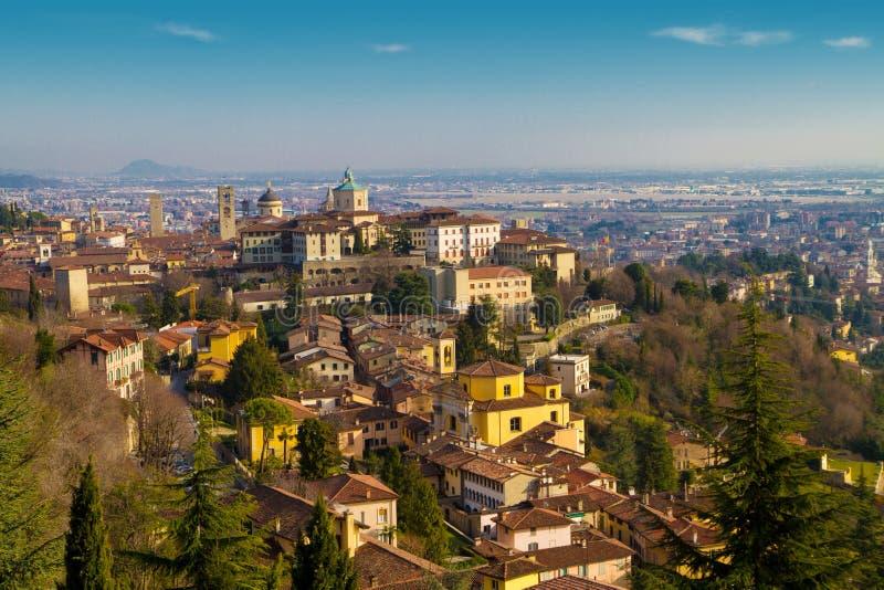 Bergamo. A view of bergamo landscape stock images