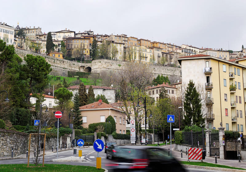 Bergamo. Italian town Bergamo in the Lombardy stock image