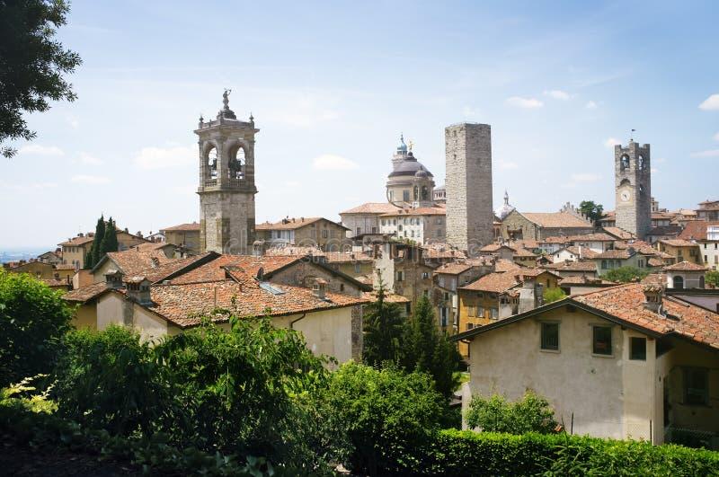 Bergamo. Citta Alta old town scenics. , Lombardy, Italy royalty free stock image