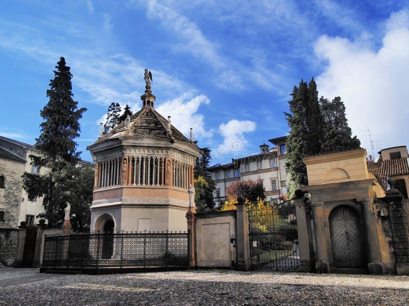 Bergamo. Baptistery in Bergamo, Lombardy, Italy stock photography