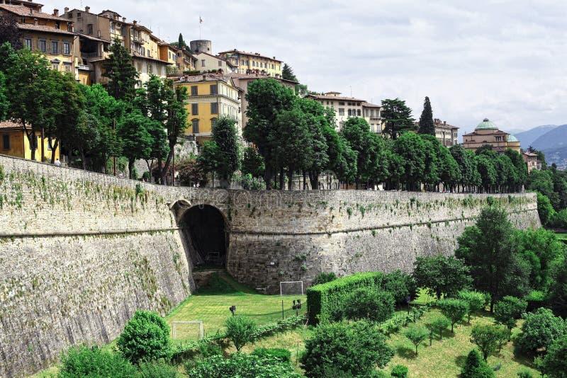 Bergamo Alta imagem de stock royalty free