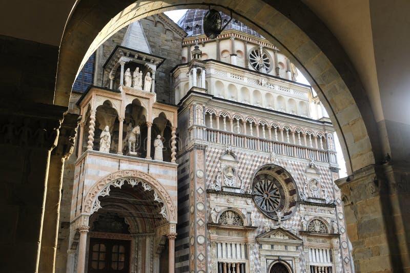 Bergamo, Cappella Colleoni stockbild